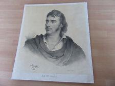 GRANDE GRAVURE LITHOGRAPHIEE LE BARON GROS 1826