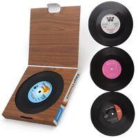 Vinyl Schallplatten Glasuntersetzer 6er Set Untersetzer Bierdeckel Retro Musik