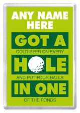 Golfer birthday gift novelty gift magnet any name husband dad boyfriend brother