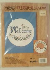 Goose N Wreath Welcome Counted Cross Stitch N Paint Craft Kit Bucilla
