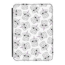 Pugicorn Pattern Rainbow Unicorn Pug iPad Mini 1 2 3 PU Leather Flip Case Cover