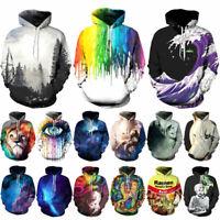3D Graphic Print Men Women's Hoodie Sweater Sweatshirt Jacket Coat Pullover Tops