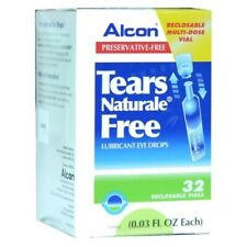 Tears Naturale Alcon Free Lubricant Eye Drops dry 32Vials(0.8mL=0.03 fl oz/each)