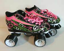 Rds Pacer Black Heart Throb Roller Skates - Womens Size 4 - New w/o Box