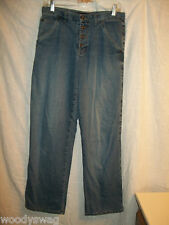 DKNY Jeans Size 6 10 inch Rise 100% Cotton Inseam 30 Button Fly