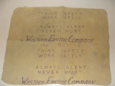 1960s Western Electric Co Hawthorne Works Polishing Cleaning Cloth Work Safely