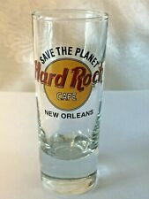 """Hard Rock Cafe NEW ORLEANS - 4"""" Shot Glass - COLLECTOR'S ITEM!  Save The Planet"""