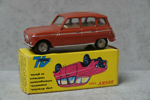 French Dinky Toys 518  Renault 4L Brick Red Original  Mint Boxed