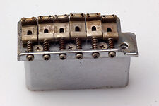 Vintage Aged Tremolo Chrome Steelblock, Fender Pat. Pend. Saddles fits Strat