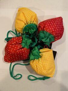 Fruit design usable grocery bag/ tote eko friendly Strawberry or lemon