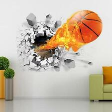 3D Basketball Wall Sticker Home Kids Room DIY Decal Vinyl Art Mural Decor