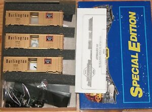 ATHEARN 2314 SPECIAL EDITION 40 FT GOLD BOXCAR KIT 3-PACK BURLINGTON CB&Q