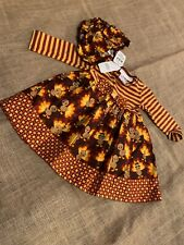 "Bonnie Baby 2 piece long sleeve ""turkey"" dress 9 months NWT"
