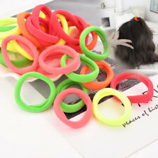 40pcs Knitting Spandex Fluorescent Candy Color Elastic Hair Bands Hair Accessory
