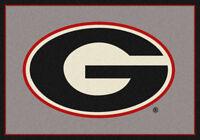 "5x8 Milliken Georgia Bulldogs 45287 NCAA Spirit Area Rug - Approx 5'4""x7'8"""