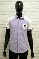 Camicia DOOA Uomo Taglia Size M Maglia Shirt Man Manica Corta Cotone Righe Slim