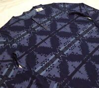 Polo Ralph Lauren Southwestern Aztec Indian Tribal Indigo Henley Tee T-Shirts