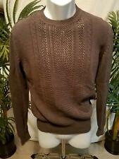 Pringle of Scotland Mens Sweater Gray Top sz Medium (M) Cotton
