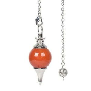 Natural 18mm Stone Dowsing Crystal Healing Chakra Reiki Point Pendulum Pendant