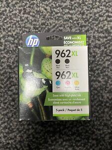 HP 962XL (6ZA57AN) Black/Cyan/Magenta/Yellow Ink Cartridges. Exp: March 2023