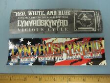 Lynyrd Skynyrd 2003 red,white and blue promotional sticker New Old Stock Mint