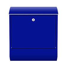 Design Briefkasten mit Zeitungsfach Blau Farbe Bunt Abstrakt Retro Brief RID25