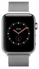 Apple Watch Series 3 38mm Stainless Steel Case with Milanese Loop (GPS + Cellular) - (MR1N2X/A)