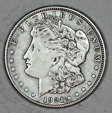 1921-S MORGAN DOLLAR, 90% SILVER