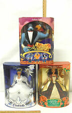 Walt Disney Cinderella Belle Enchanted Christmas Aladdin Fashion Genie Dolls NIB