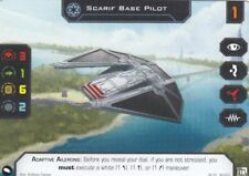Star Wars X-WING Miniatures Alt Art Promo-SCARIF base pilote (double impression recto verso de la carte)