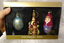 Old Russian Mercury Glass Faberge Egg Church Matryoshka Christmas Tree Ornaments