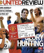 Football Programme plus Match Ticket>MAN UTD v  BLACKBURN ROVERS Jan 2003 FLCSF