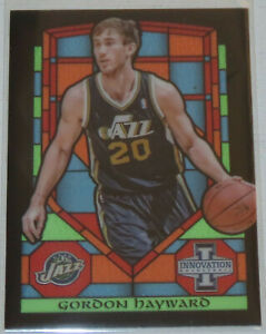 2013/14 Gordon Hayward Jazz Panini Innovation Stained Glass Insert Card #64 Mint