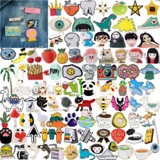 Enamel Pins Cartoon Animal Fruit Brooches Badge Denim jeans Lapel Pin Cute Gift