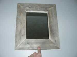 Barn Board Picture Frame with Mirror