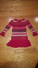 Baby Gap Knit Sweater Dress Fair Isle Toddler Girl 2T EUC
