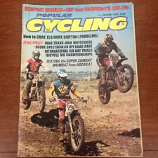 POPULAR CYCLING JANUARY 1975 TRANS AMA HODAKA 125 VINTAGE MOTOCROSS ACTION AHRMA