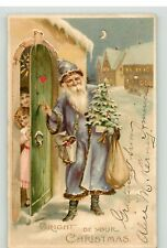 POSTCARD - HTL - HOLD TO LIGHT - FATHER CHRISTMAS -  UNPOSTED