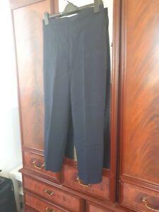 Ladies navy blue work trousers 18