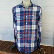 Ben Sherman Shirt Checked Long Sleeve Size M Medium Mod Fit