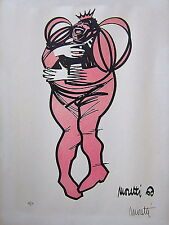 Raymond Moretti: Laughing Figure 1960 / French Surrealism S/Color Lithograph