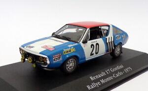 Atlas Editions 1/43 Scale 2 235 025 - Renault 17 Gordini - #20 Monte Carlo 1975
