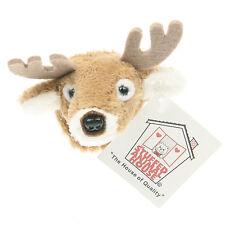 "Stuffed Animal House 2"" White Tailed Deer Plush Head Refrigerator Magnet  NWT"