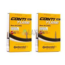 2x Continental Race 28 Inner tubes 700c 42mm Presta Road Racing Bike Cycle