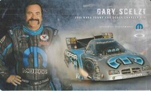 2008 Gary Scelzi Mopar Dodge Charger Funny Car NHRA postcard