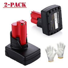 12V Red XC 5.0Ah Li-ion Battery 5000mAh 2 pack for MILWAUKEE 48-11-2440 M12