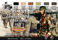LIFECOLOR PAINT German WWII Uniforms #2 Camouflage Acrylic Set (6 22ml Bottles)