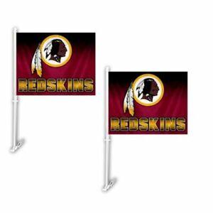 Washington Redskins NFL Hombre Car Flag ( set of two )
