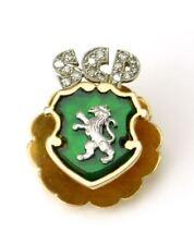 Rare vintage diamond gold Sporting CP Clube de Portugal lapel pin tack badge