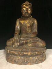 buddha legno laccato Myanmar altezza 33cm
